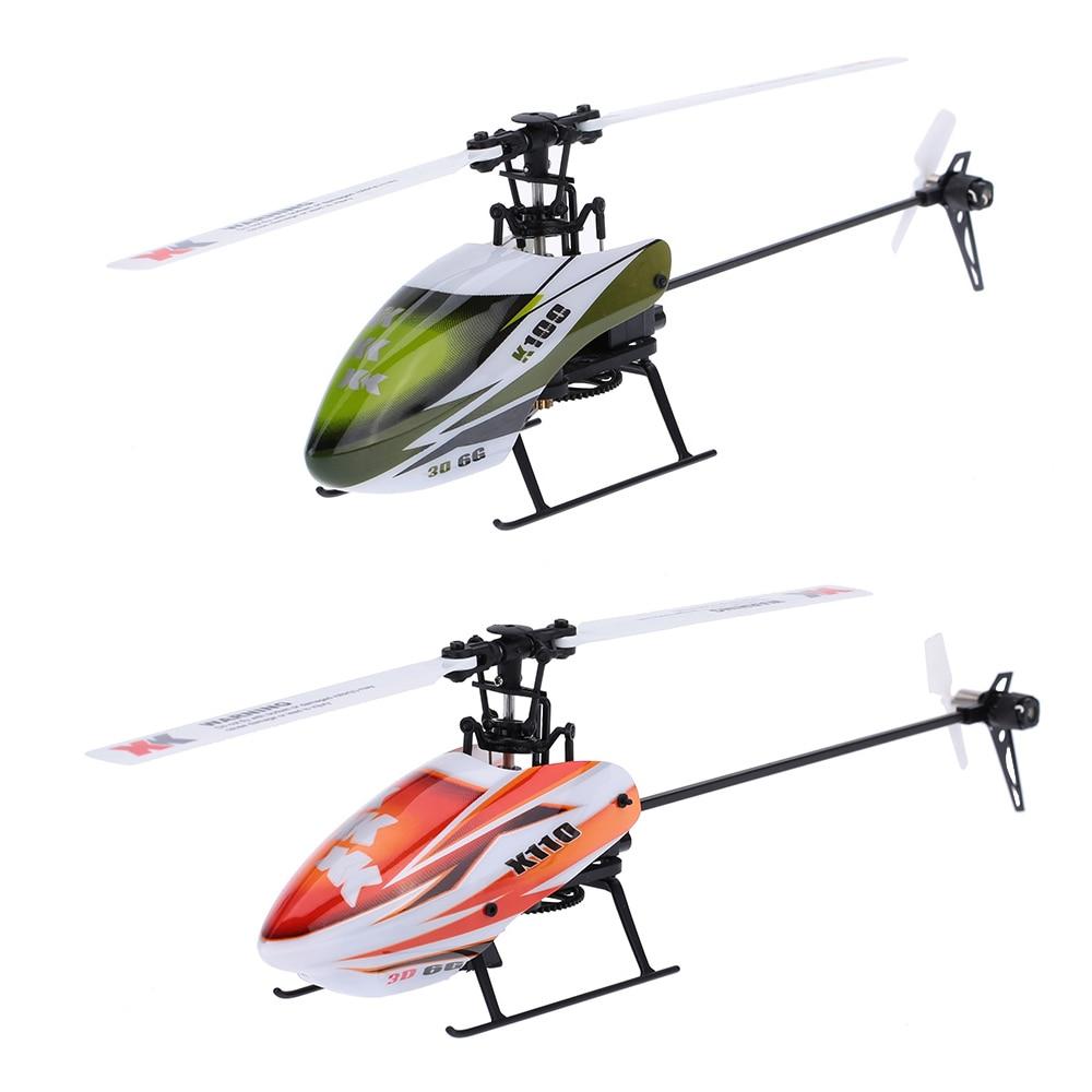 Радиоуправляемый вертолет XK K100 или K110, 6 каналов, бесщеточный, 3D, 6G