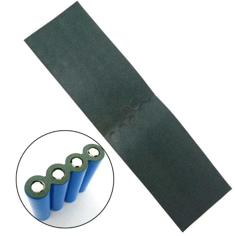 100 pces 1s 18650 li-ion bateria isolamento junta de papel cevada bloco de bateria célula isolamento cola remendo elétrodo isolado almofadas