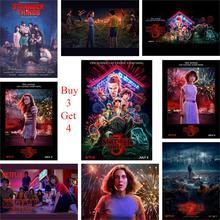 Stranger Things, 3 pósteres, 13 personajes, impresiones de papel brillante, Color vivo, decoración artística para el hogar