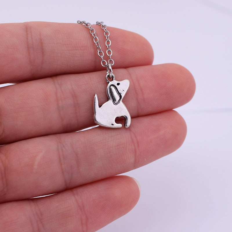 hzew cute dog pendant necklace dog jewellery necklaces gift for dog lover