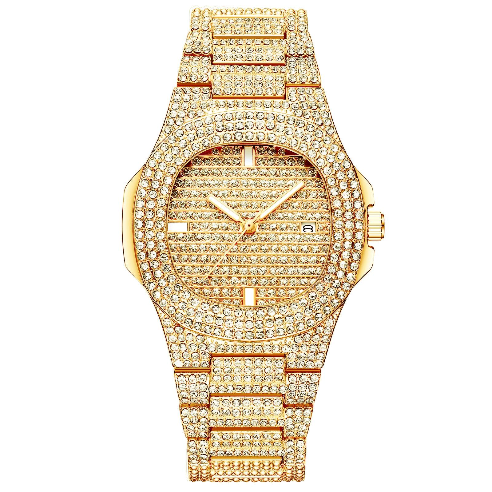 2020 Luxury Diamond Women Watches Hot Sell Fashion Calendar Waterproof Wristwatch for Female Gold Quartz Clock relógios feminino enlarge