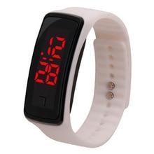 LED Digital Display Bracelet Watch Children's Students Silica Gel Sports Wristwatch Calendar Men Wat