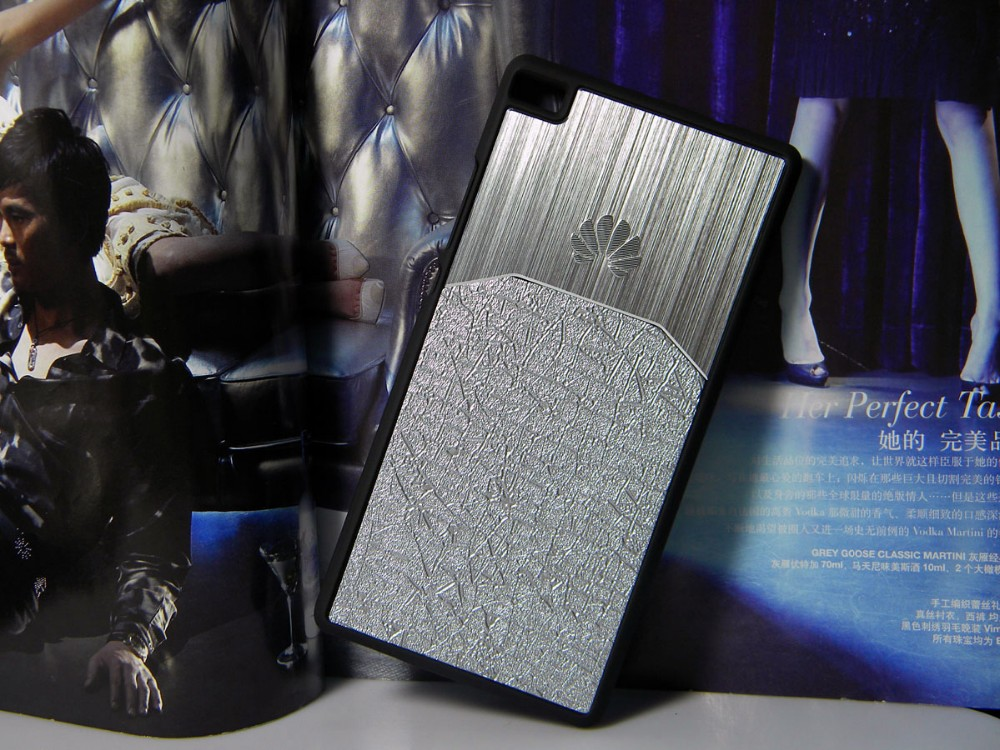 Dla huawei p8 lite case p9 lite plus honor 8 p9 pokrywy hybird Szczotkowanego aluminium Metal z Luksusowych Skóry materiał darmowa wysyłka 5