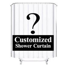 Özelleştirilmiş duş perdeleri banyo perdesi 3D komik su geçirmez Polyester kumaş banyo jaluzi 12 kanca ile