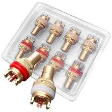 Mayitr 8 шт. красный + белый RCA гнездо шасси высокое качество RCA CMC Женский Разъем Phono медь разъем Amp HiFi