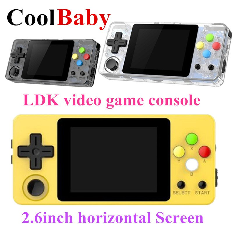 CoolBaby LDK video game console 2.6 inch horizontale Scherm Mini Retro Handheld Game spelers draagbare HD Retro Mini jongen tetris