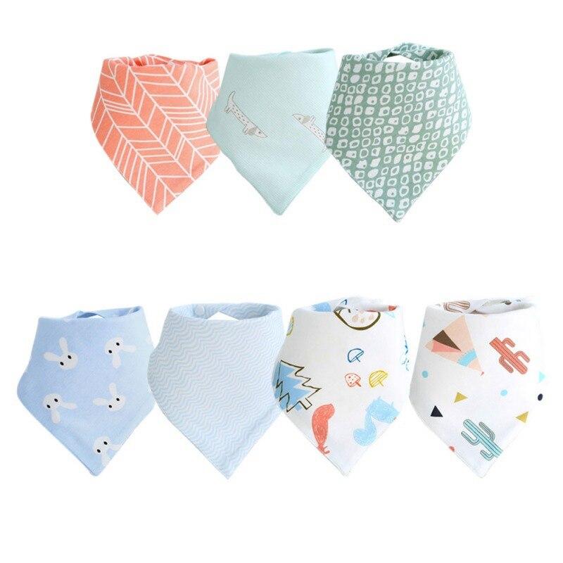 Bebé lindo algodón babero paño babeo dentición Baberos impermeables viñetas de animales toallas suaves