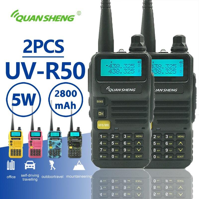 2 шт., портативная рация Quansheng 5 Вт 2800 мАч, Двухдиапазонная портативная Мобильная радиостанция Hf, любительская радиостанция CB Baofeng