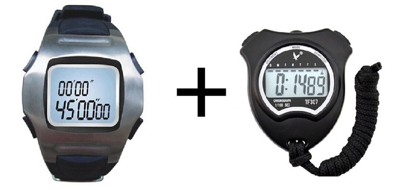 Partido de Fútbol caballeros de cronógrafo cronómetro Digital para relojes corriendo temporizador de Cuenta regresiva árbitro cronómetro grupo
