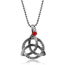Collar de nudo de Triquetra de plata collar de nudo de Trinity
