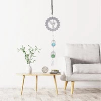 nordic decoration home cute wind chimes spiral crystal ball wind chimes bells for indoor and outdoor kids room decoration