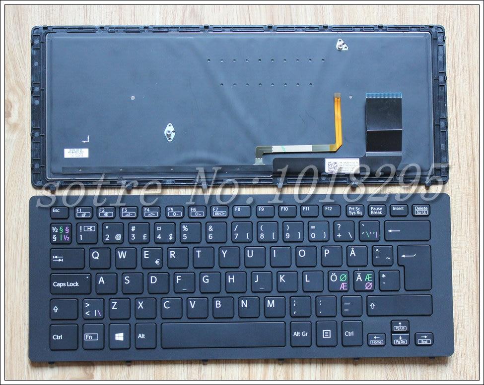 Novo para sony svf15n nordic ne portátil teclado retroiluminado