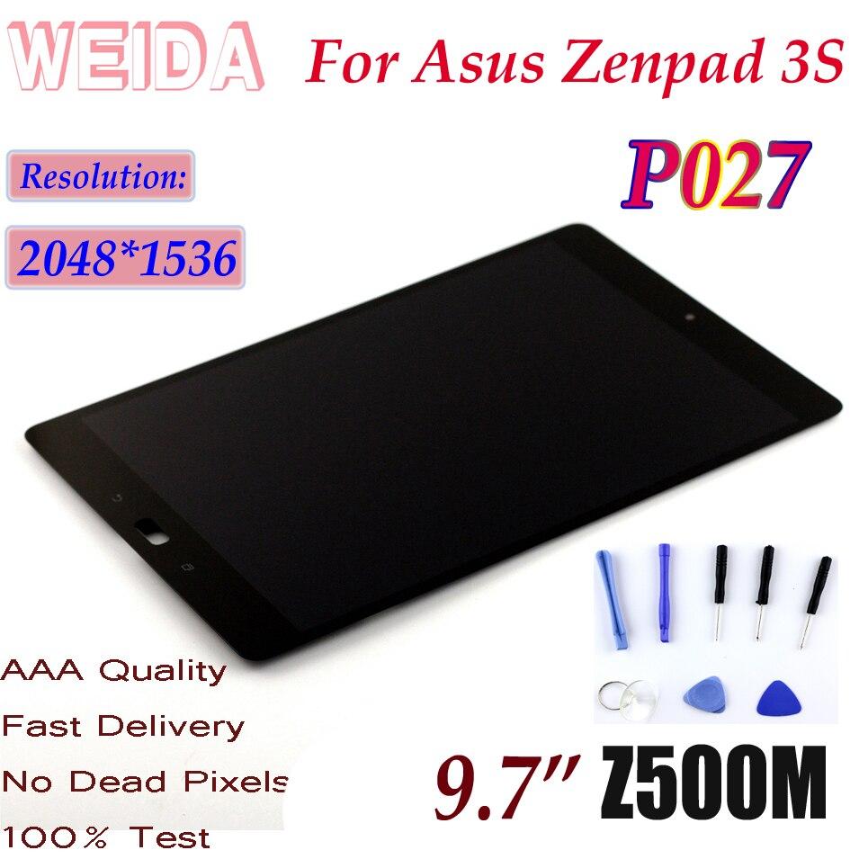 "WEIDA 10,1 ""LCD para Asus Zenpad 3S 10 Z500M P027 2048*1536 pantalla LCD de montaje de pantalla táctil P027"