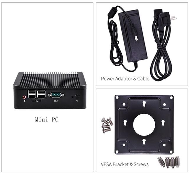 Cheap 12v Fanless Mini Pc 2 Lan Port Computer Personal Server Assemble  Industrial Desktop Celeron 1007U Dual Core Processor 10