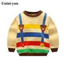 Sweat-shirt pour enfants   Vêtements décontractés printemps/automne, motif ours de dessin animé, vêtements de bébé pour garçons et filles, pulls danimaux, vêtements hauts pour enfants
