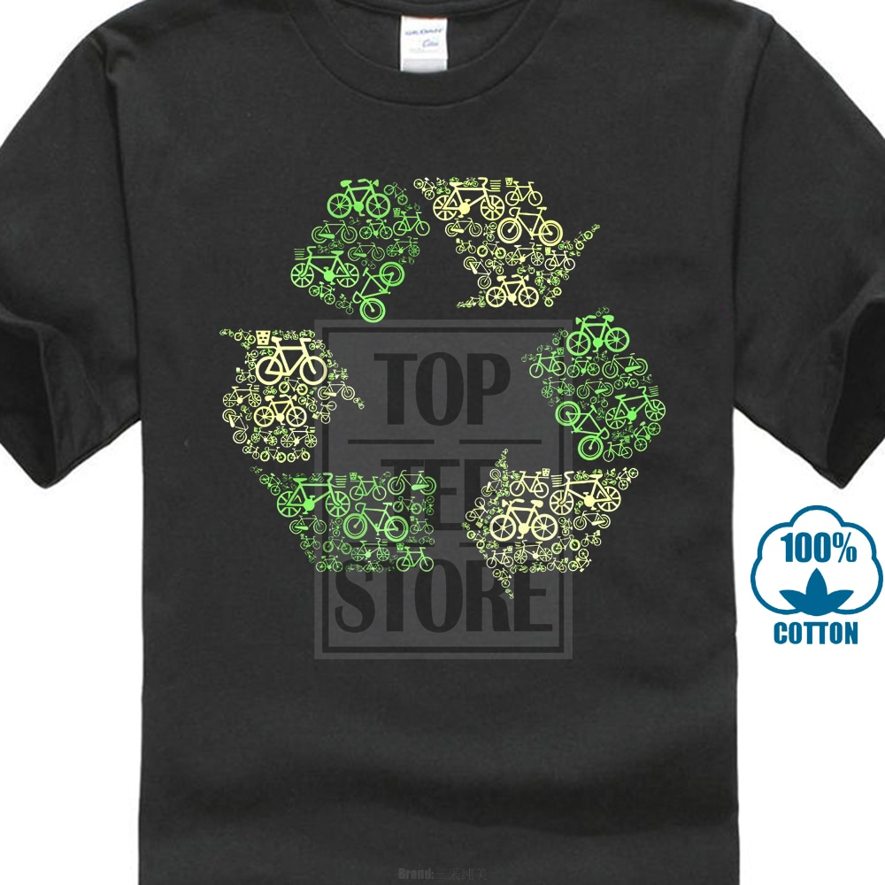 Recycling Logo T-shirt Top Bikeer Ecologie Omgeving Wwf Greenpeace Vegan Dieren