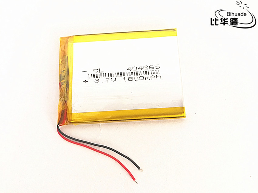 10pcs/lot 3.7V 1800mAh 404865 Lithium Polymer Li-Po li ion Rechargeable Battery cells For Mp3 MP4 MP5 GPS PSP mobile bluetooth