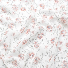 145x100cm Imported White Small Floral Print Soft Chiffon Fabric for Women Wedding Dress Shirt scarf