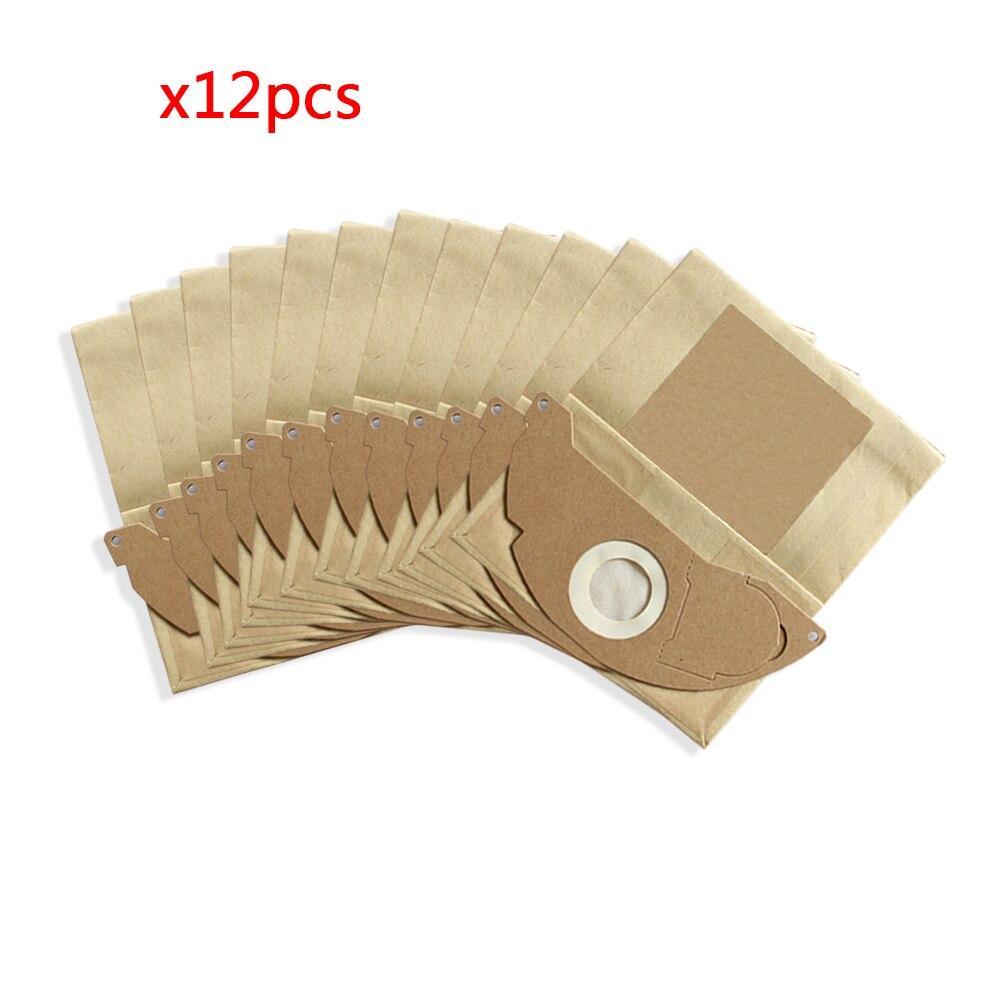 12 Uds bolsa de papel filtro de polvo para KARCHER WD2250 A2004 A2054 MV2 repuestos de aspiradora bolsas de recolección de polvo de repuesto