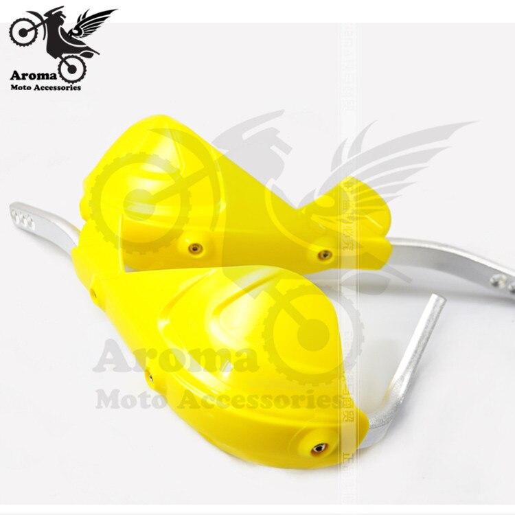 "Guardamanos de plástico amarillo guardamanos ajuste motocicleta Motocross Dirt Bike ATV XLR125 YZF KLX KTM 7/8 ""22mm manillar de motocicleta"