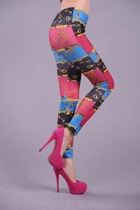 Autumn Winter Leggings Printed Women Legging Colorful High Waist Elastic Leggings Silm Women Pants