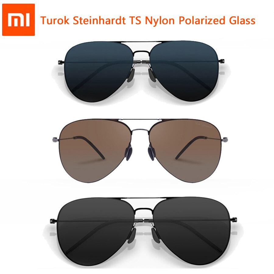 Xiaomi turok steinhardt ts marca náilon polarizado óculos de sol inoxidável lentes coloridas retro 100% óculos à prova de uv para viagens