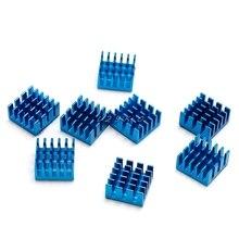 8pcs Aluminium Heatsink For Motherboard DDR VGA RAM Memory IC Chipset Cooler Blue/White