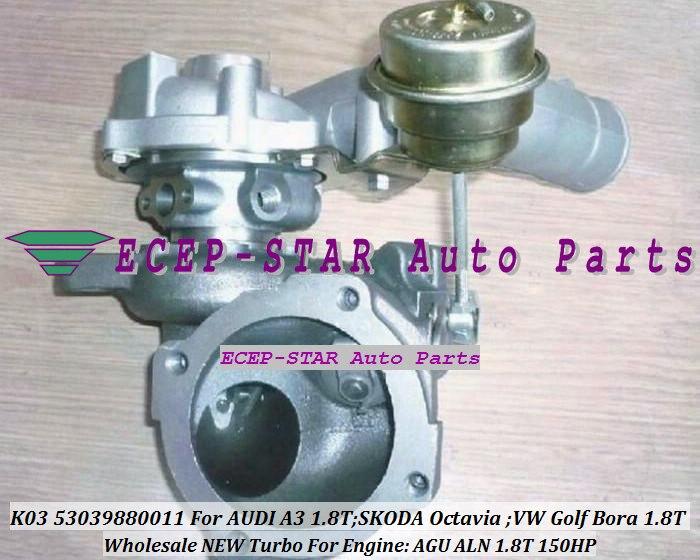 Envío Gratis K03 53039880011, 53039700011, 53039700044, 53039880044, 11 44 Turbo AUDI A3 Octavia 1,8 T para VW Golf Bora AGU ALN 1.8L