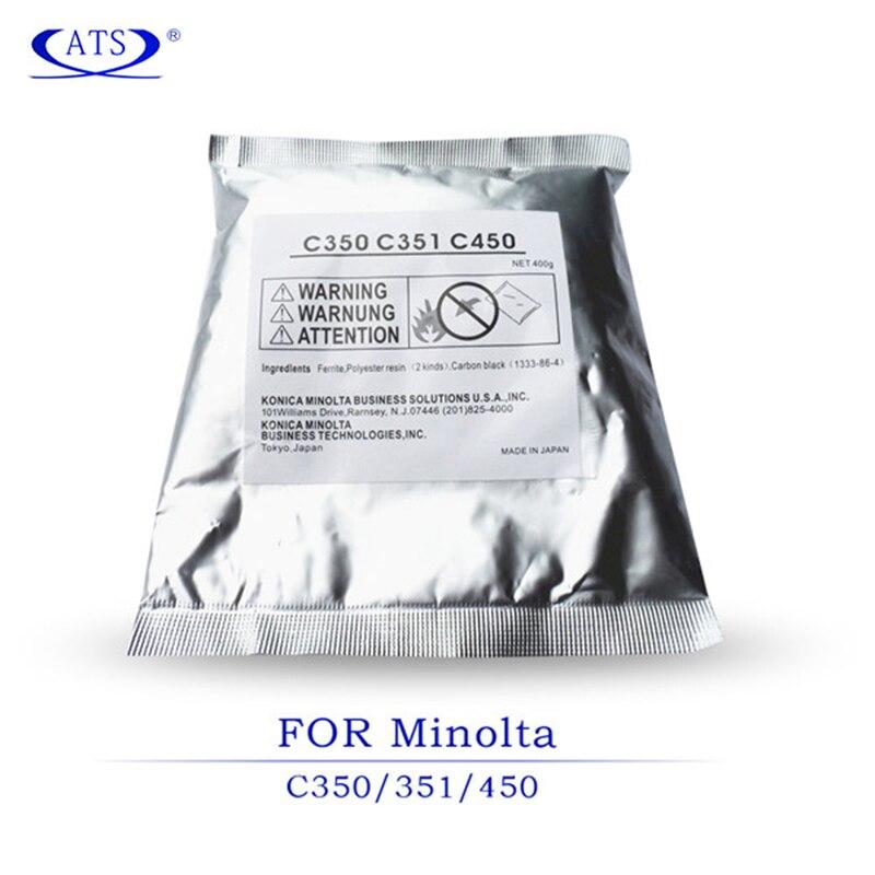 4 unids/set CMYK desarrollador en polvo para Konica Minolta C 350 de 351 450 compatible copiadora espaà a C351 C450 C350 C-351 c-450 C-350