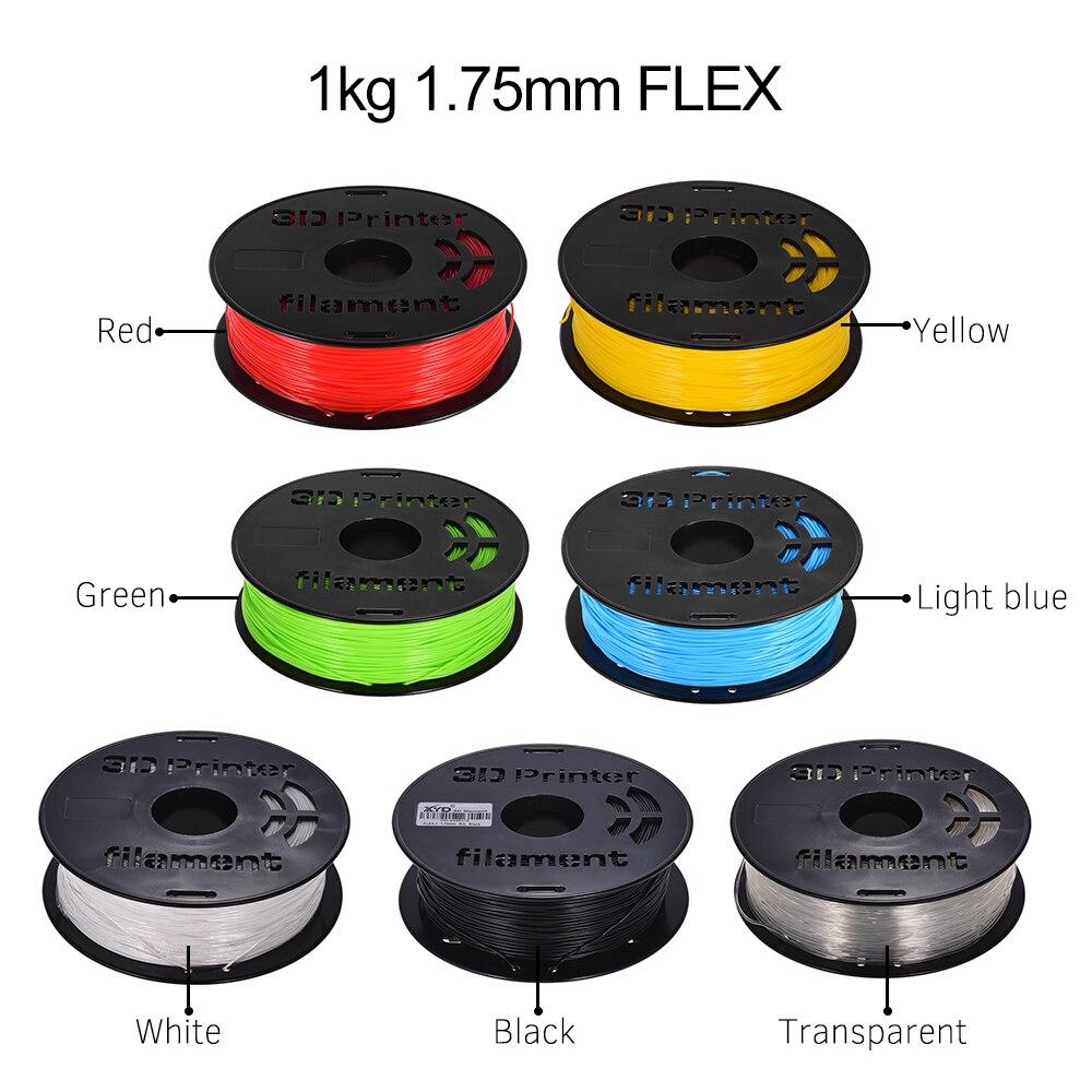 7 arten farben 1,75mm 3D Drucker Filament 1KG/ Spool Flexible TPU Filament Druck Material für 3D Drucker zeichnung Stift Bleistift