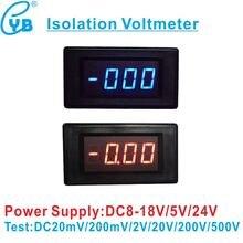 YB5135AI 3 1/2 LED Digital Voltmeter Isolation Meter DC 200mV/2 V/20 V/200 V/500 V Spannung Meter Tester Volt Panel Meter Voltmetre