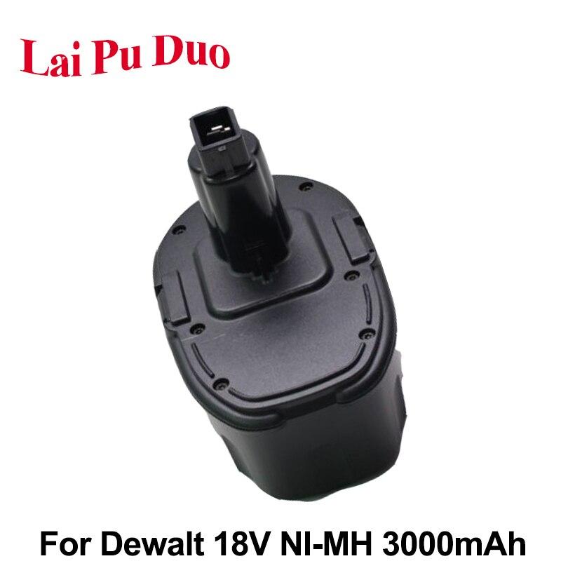 Batería de herramienta eléctrica recargable 18V 3.0Ah NI-MH para taladro Dewalt DC9096, DE9096, DE9095, DE9098, DC212, DC330, DC380KA, DC330KB