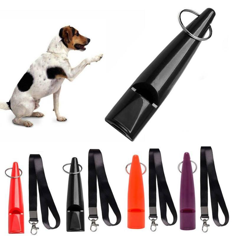 Profesional ultrasónico alta frecuencia perros silbato entrenamiento con cordón fácil de llevar para cachorro