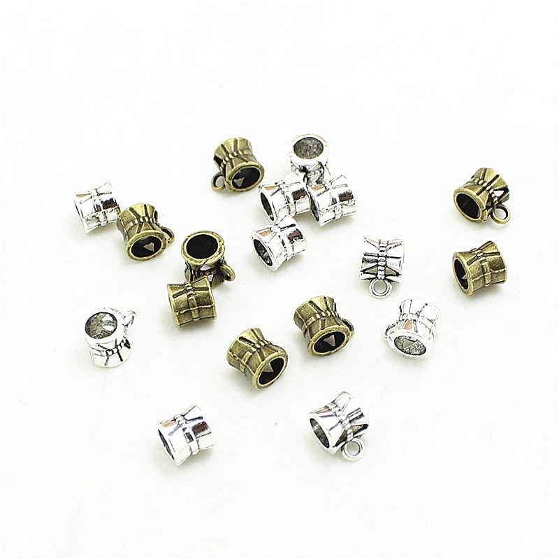 Dulce campana, envío gratis, dos colores, hueco, cuentas de fianza talladas, 6*7*9mm, 150 Uds D1018