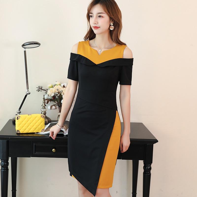 Summer Dress 2019 women short sleeve v neck bandage dress sexy Fack 2 Picec celebrity party elegant apricot dress vestidos C924