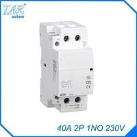ac 220 240v coil 40a 1no 2 pole 2p household ac contactor modular 35mm din rail mount 40amp