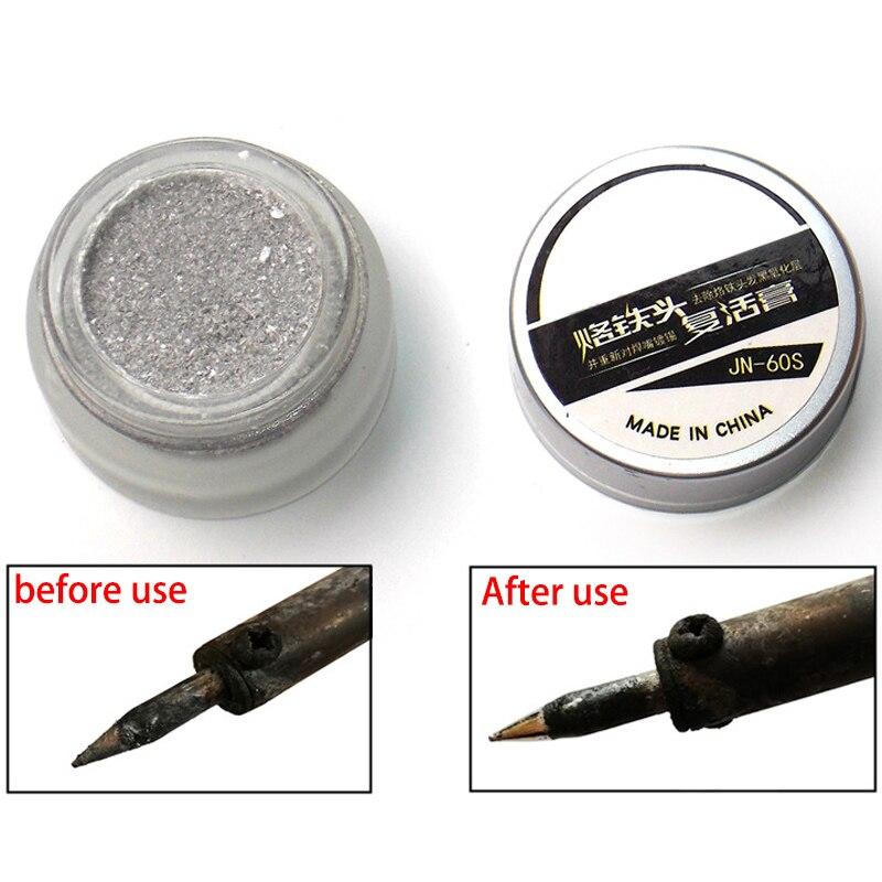 Ponta de solda ferramentas de reparo de pasta de solda de solda ponta de ferro de solda refrescante pasta limpa para óxido cabeça de ponta de ferro ressurreição