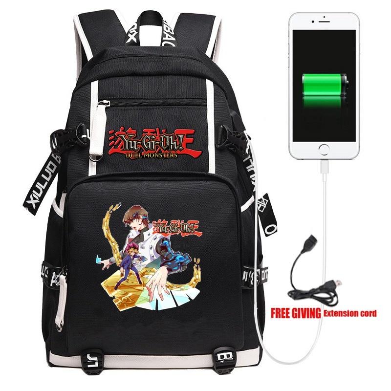 Yu Gi Oh Yugi Muto Millenium puzle mochila Cosplay escolar bolsa de libros niños adolescentes bolso de viaje de hombro 17 pulgadas regalo