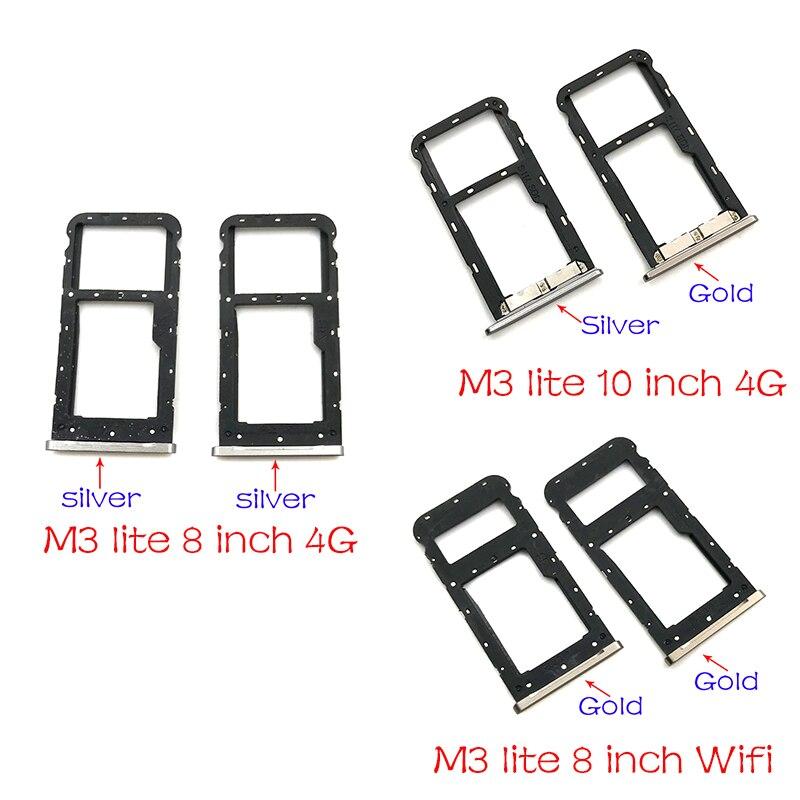 For Huawei MediaPad M3 Lite 10 inch  / 8.0 inch Micro Nano SIM Card Holder Tray Slot Holder Adapter Socket