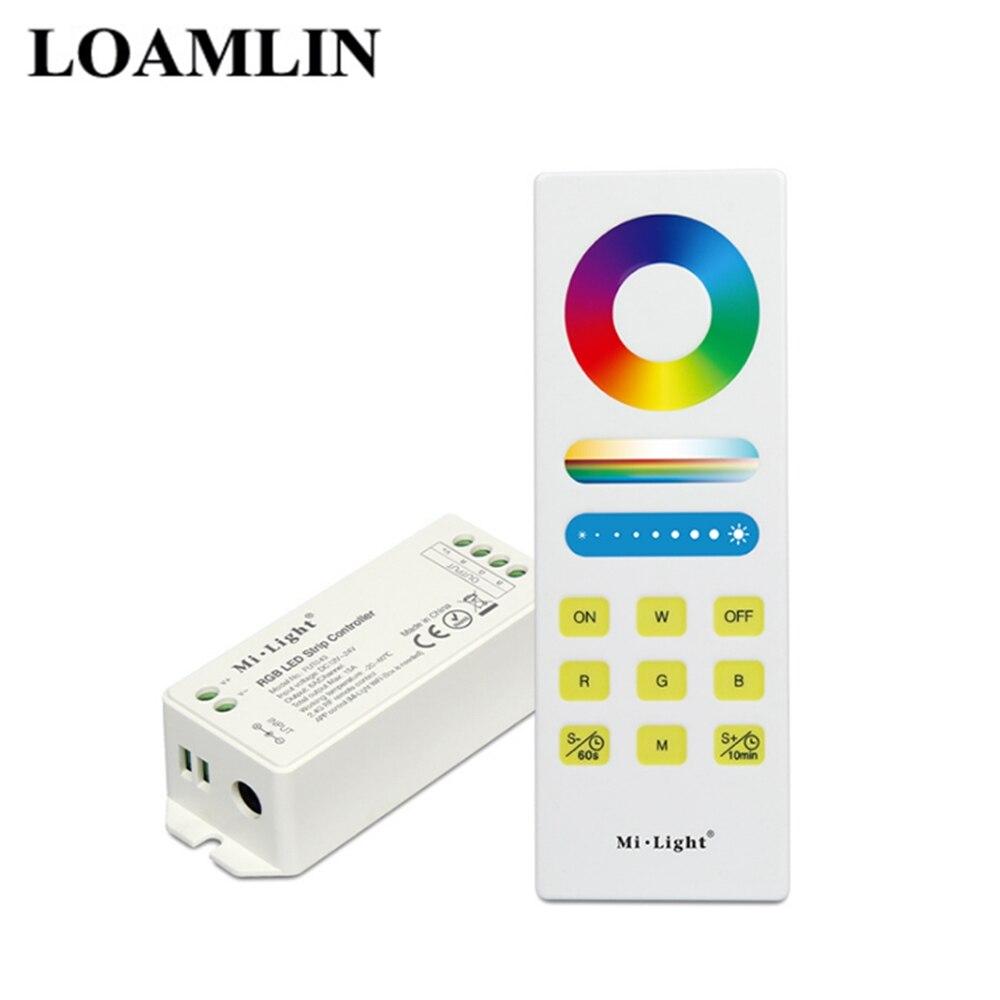 DC12V RGB + Controlador CCT 2.4G FUT043A Remoto Com Controlador Sem Fio Controlador RGB LED Para 5050 3528 Tiras CONDUZIDAS