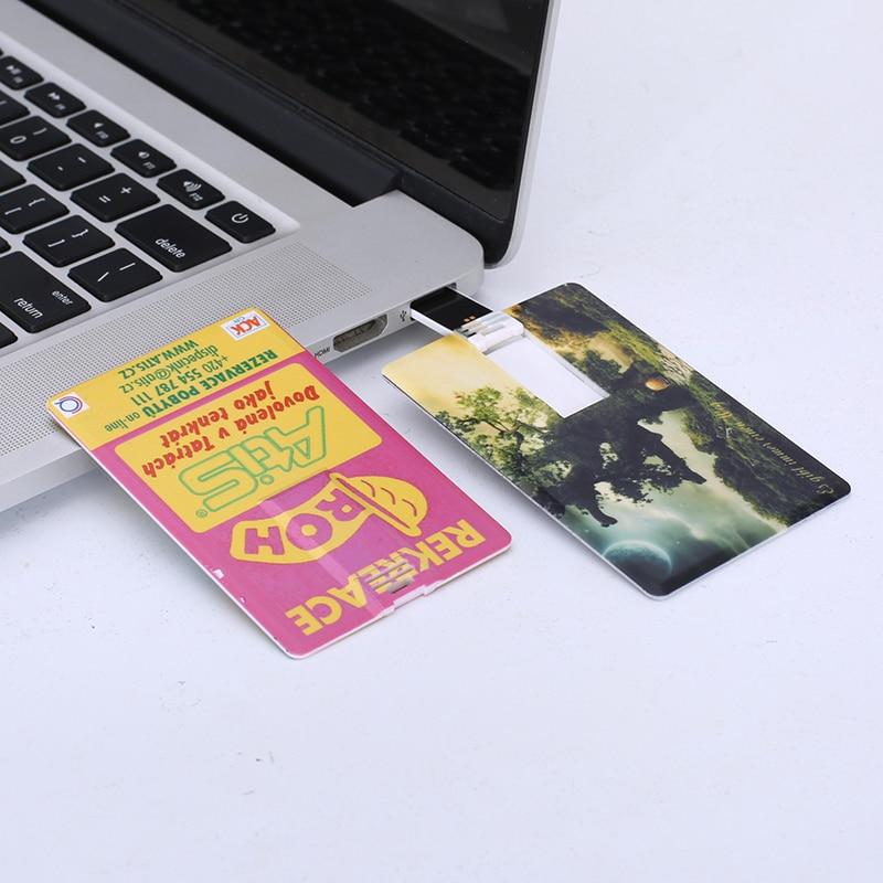 Creativo Tarjeta de Crédito Logotipo Personalizado y Foto Pendrive Usb 4 GB...
