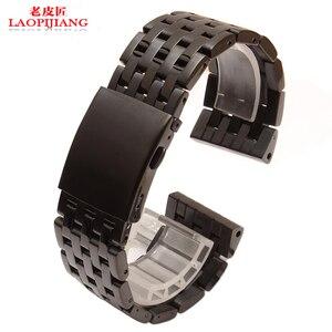 Silver stainless steel strap black 24mm 26mm 28mm 30mm metal watchband for diesel DZ4283 DZ7221 DZ7257 DZ7334 watch band