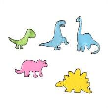 Dinosaurier! T Rex Diplodocus Stegosaurus Triceratops Kawaii Süße Lolita Fee Kei Spank Pastell Goth Emaille Abzeichen Brosche Pin