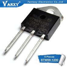 5pcs BTW69-1200 TO-3P BTW691200 TO3P BTW69 1200V BTW69-1200RG SCR nuovo originale