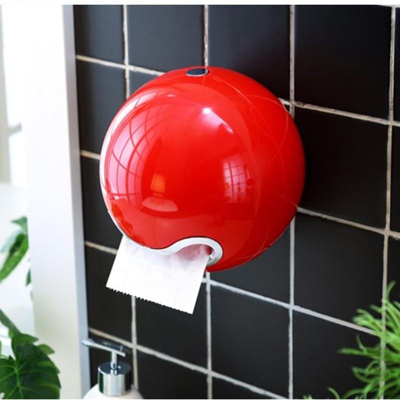 Tubo de papel redondo abs plástico titular do papel higiénico do banheiro rolo suporte de papel uma variedade de cores criativo rolo caixa de tecido