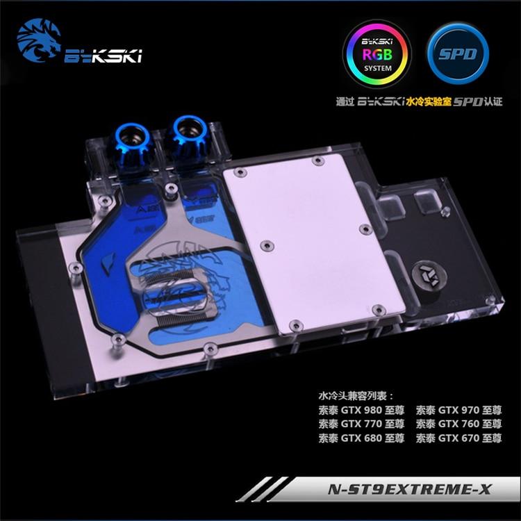 Bykski N-ST9EXTREME-X para zotac gtx980/970/770/760/660/670/680/vga bloco de resfriamento de água