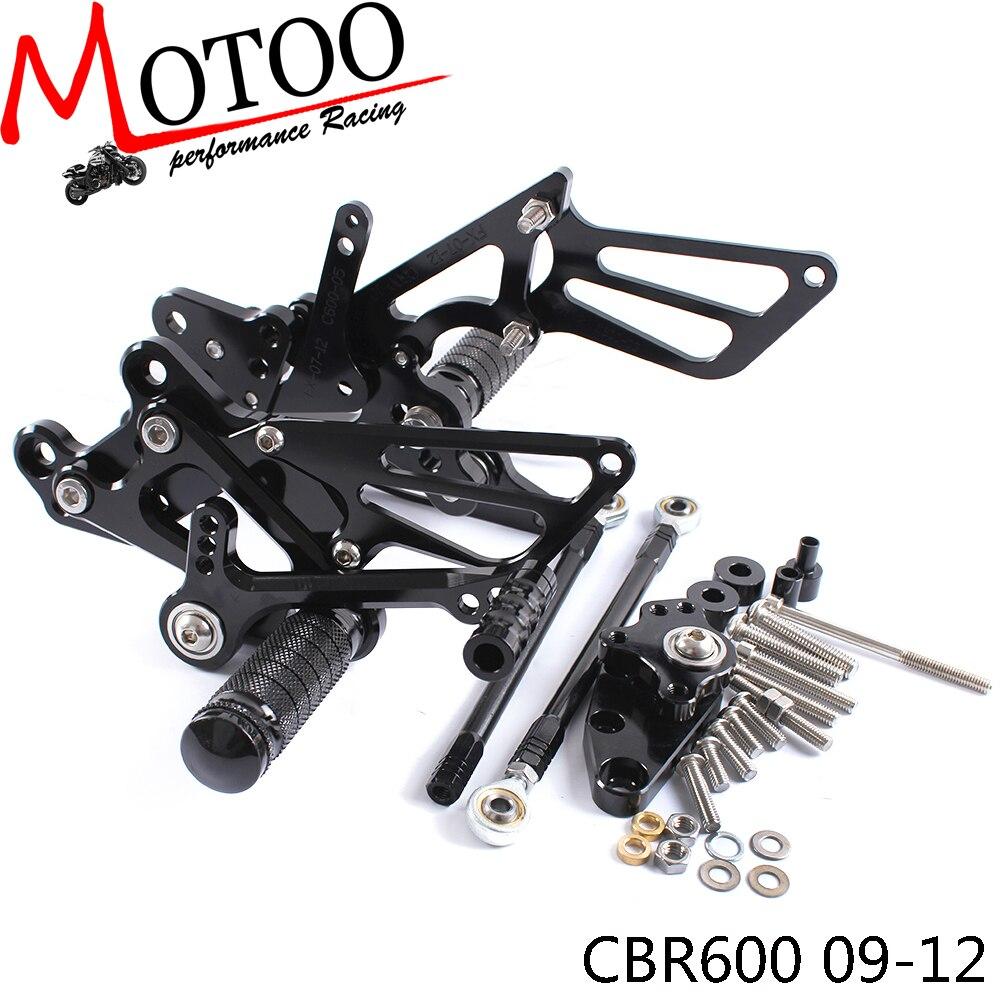 دراجة نارية قابل للتعديل مسند Footpeg Rearsets القاعدة الخلفية مجموعات أوتاد القدم لهوندا CBR600RR NON-ABS 2009 2010 2011 2012 2013-2017