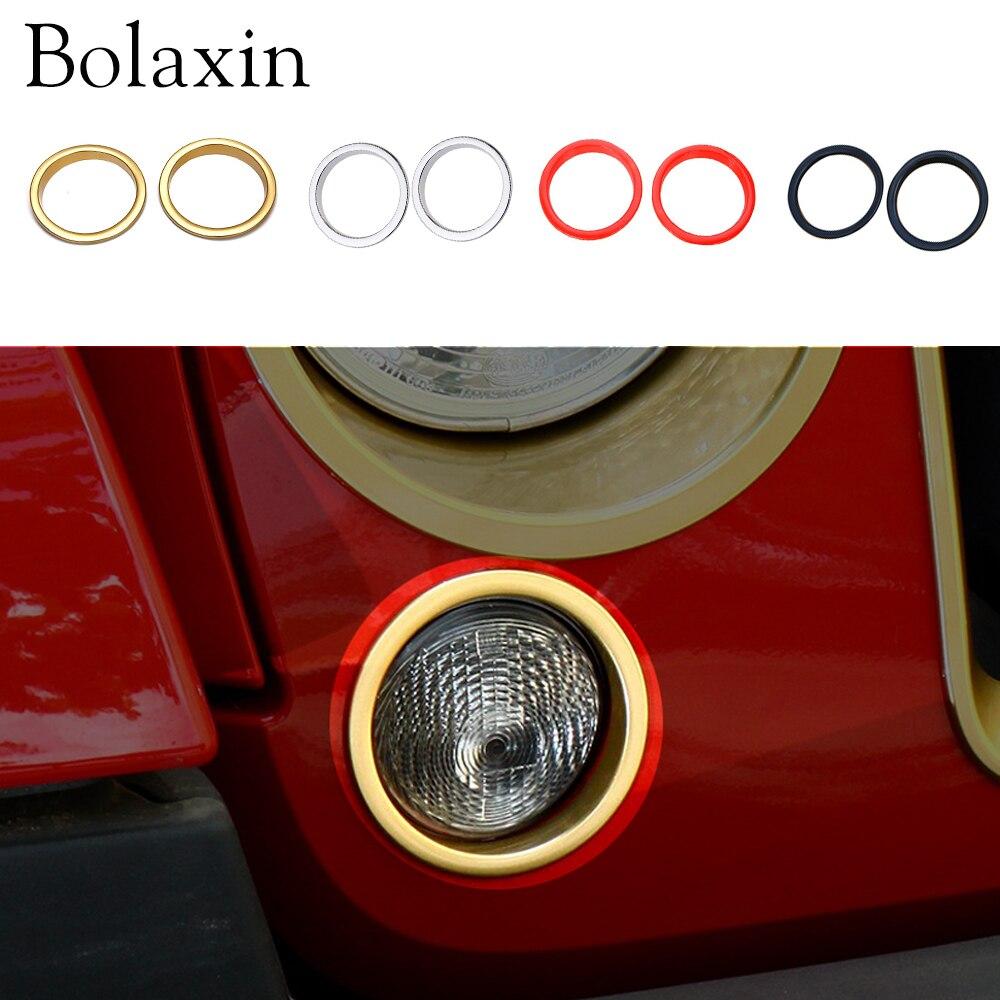 2 шт боласин красочные внешние передние противотуманные фары кольцо накладка передний бампер противотуманные фары Накладка для 2007-2015 Jeep ...