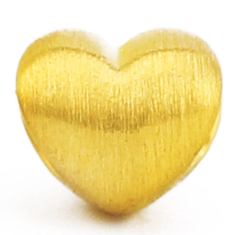24K желтое золото подвеска хит продаж Женский 999 3D желтое Золотое любовное сердце подвеска P6217