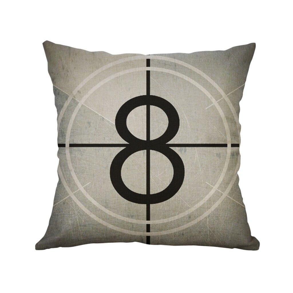 Креативный Черный Наволочка KXAAXS, забавный 40x40 см чехол для подушки, простая льняная креативная Милая подушка, чехол для дома, 2019 # y45
